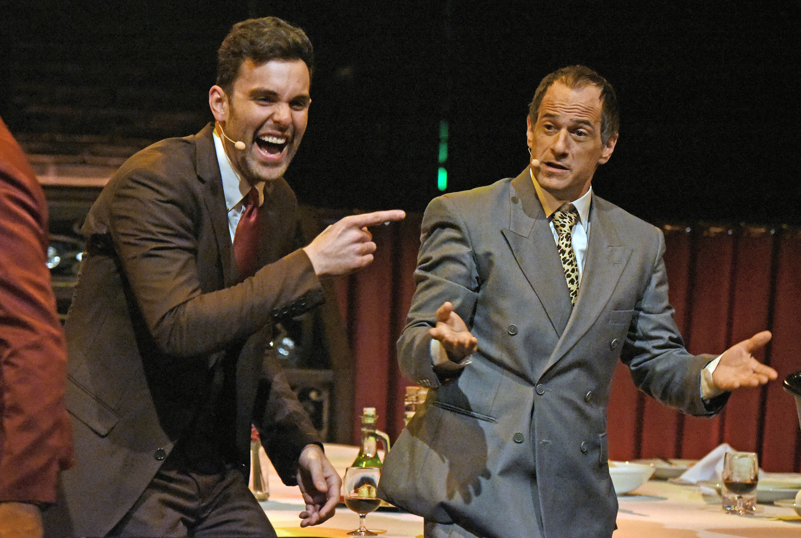 For The Record: Scorsese – American Crime Requiem at the Wallis Annenberg Center for the Performing Arts. Pictured (l-r): Zak Resnick and Jason
