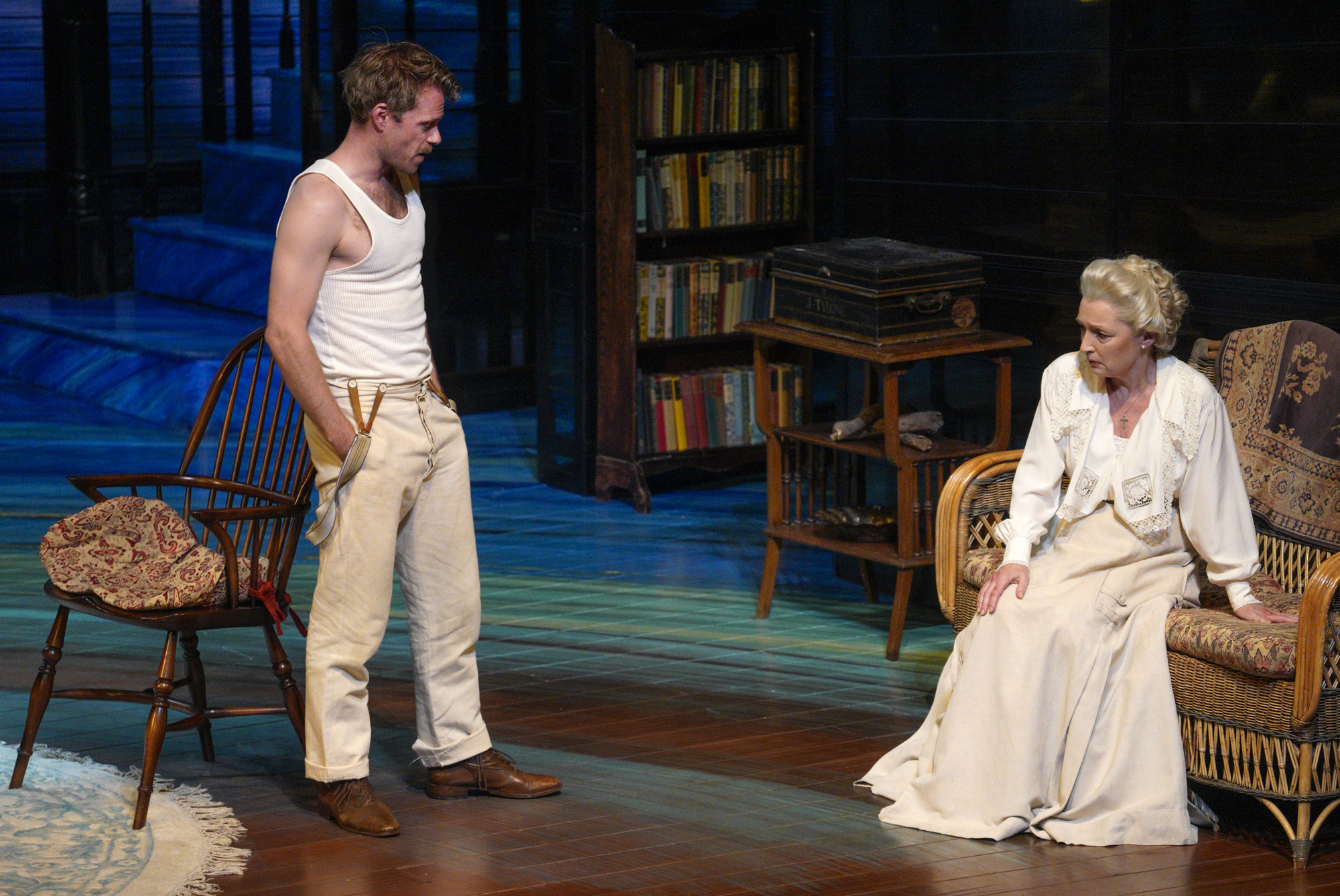 Rory Keenan (James Tyrone Jr), Lesley Manville (Mary Tyrone).PHOTO CREDIT: Lawrence K. Ho
