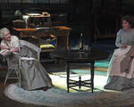 Lesley Manville (Mary Tyrone), Jessica Regan (Cathleen). PHOTO CREDIT: Lawrence K. Ho